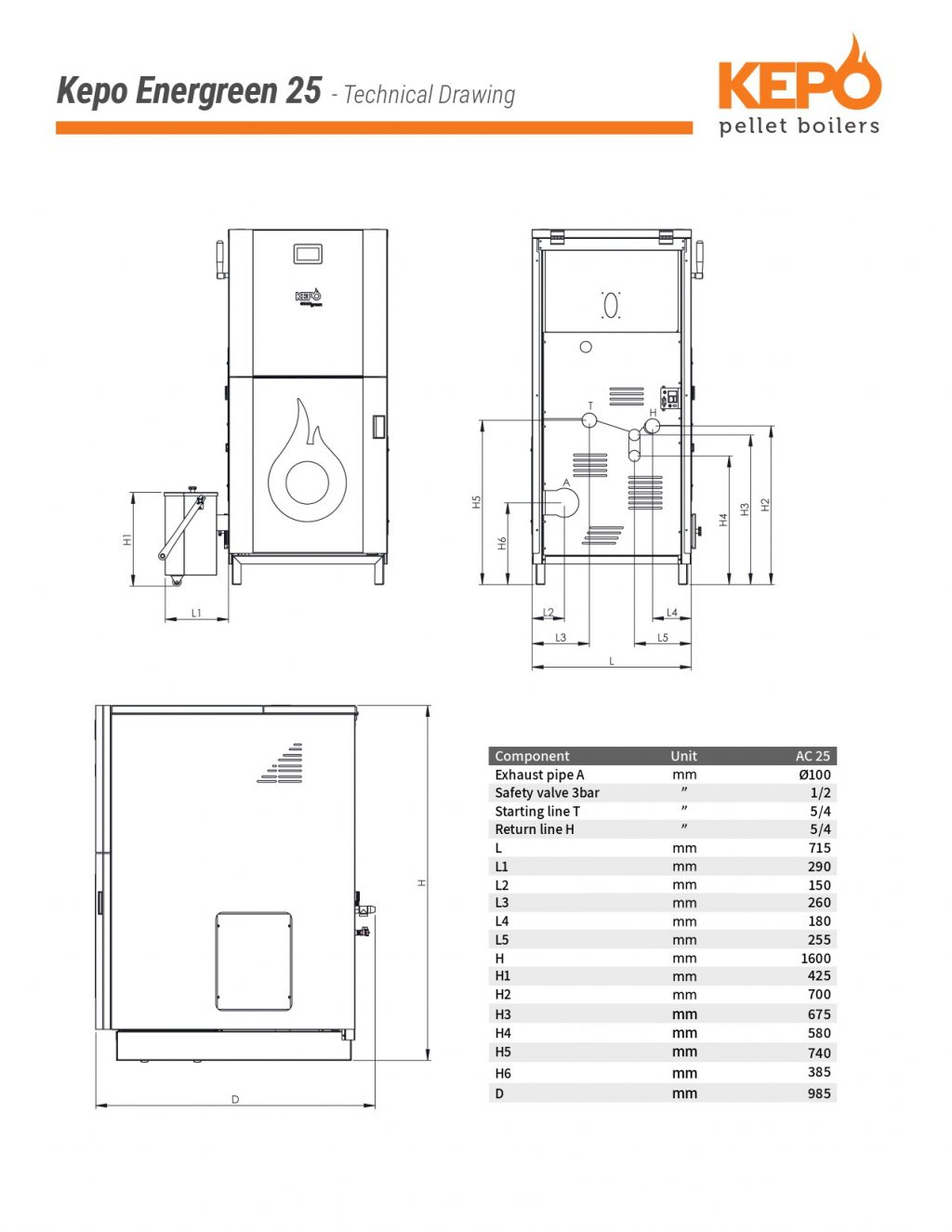 Kepo Energreen25 Techical Drawing