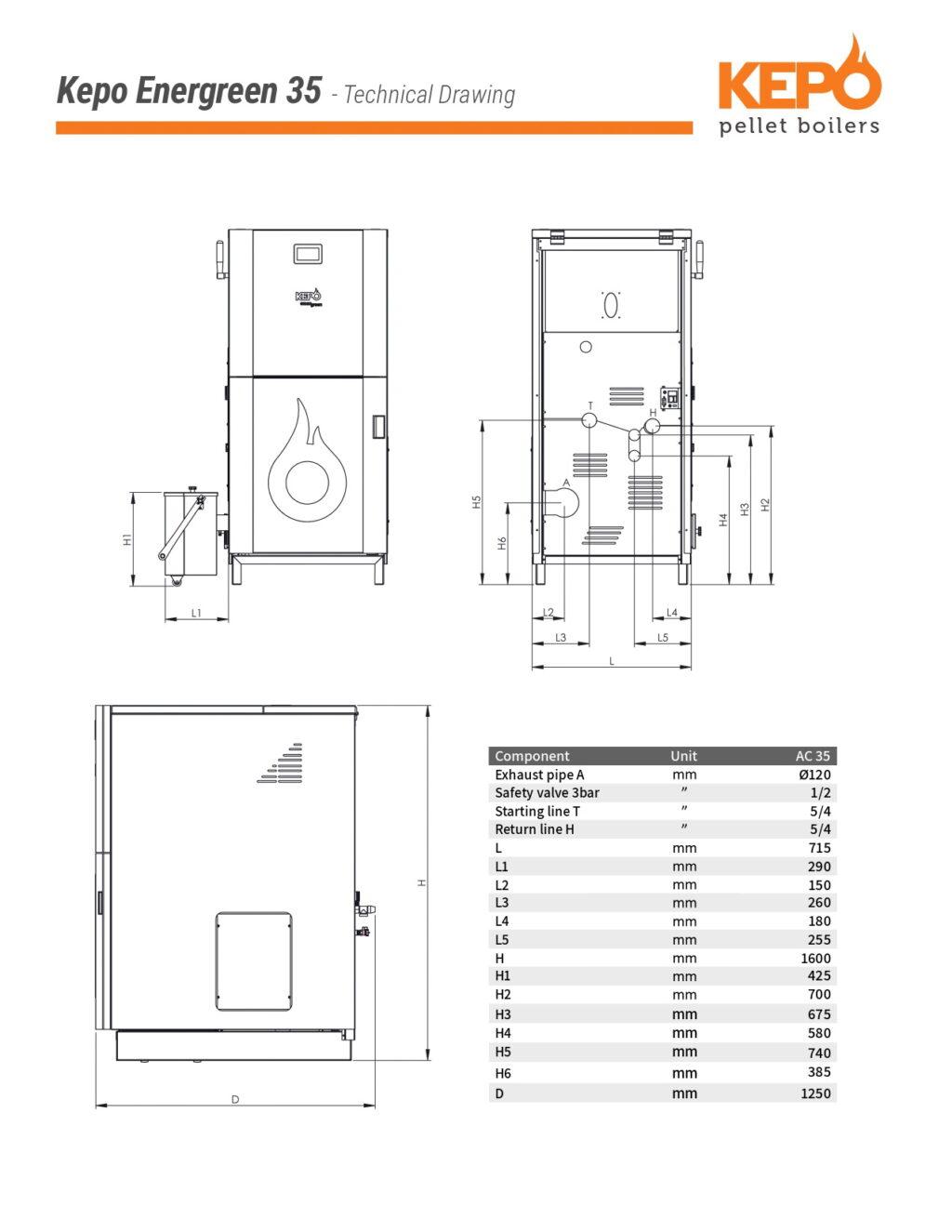 Kepo Energreen35 Techical Drawing